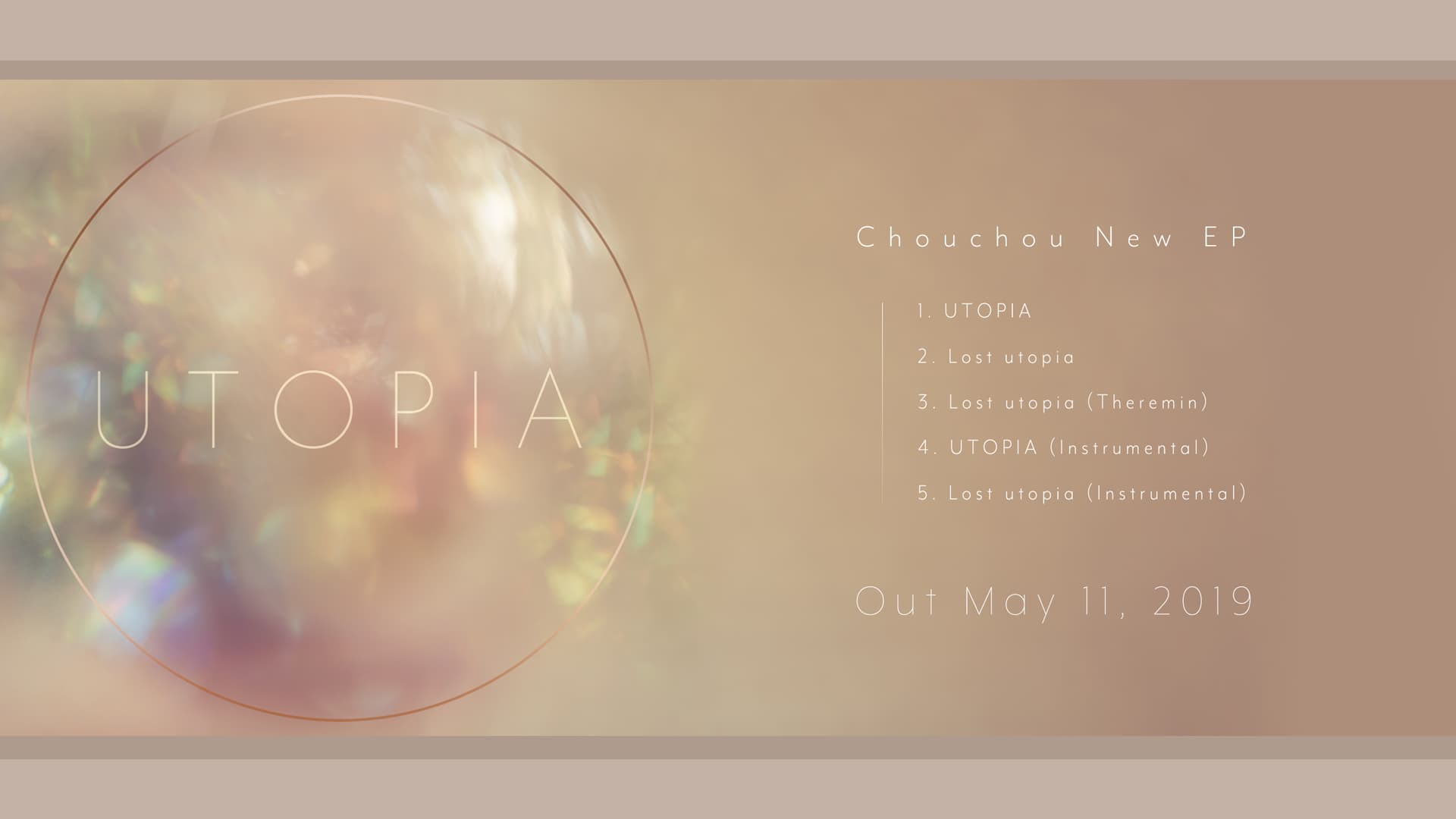 "Chouchou new EP ""UTOPIA"" out May 11"